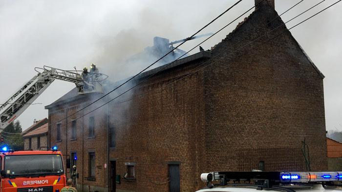 Incendie à Jemeppe sur Sambre