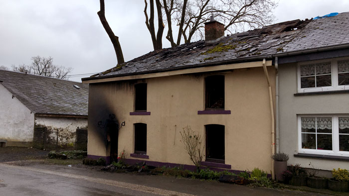 Gouvy : incendie dans une habitation