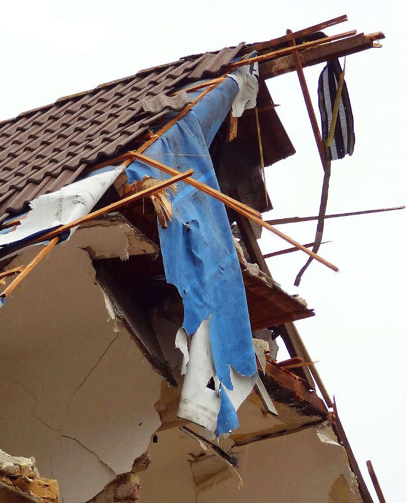 contre expertise d'une maison après explosion à Namur en Belgique