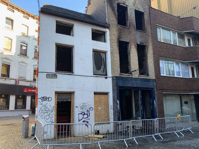 contre expertise d'un immeuble incendié à Charleroi en Belgique