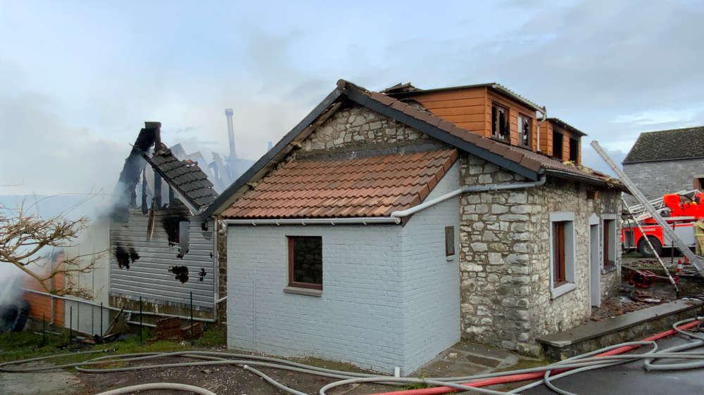 importants dégâts suite à incendie