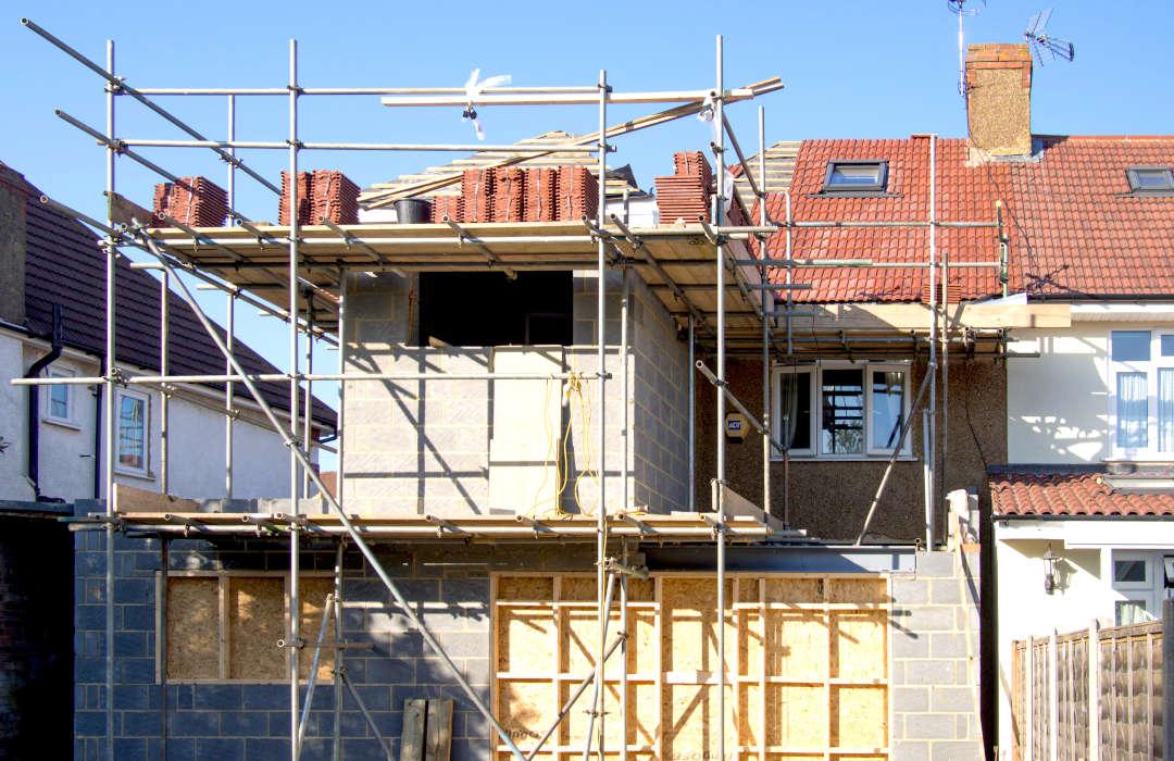 habitation en cours de rénovation après contre expertise incendie en Belgique